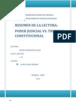 Resumen Poder Judicial vs Poder Constitucional