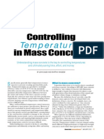 Controlling Temperatures in Mass Concrete