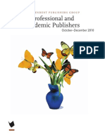 Winter 2010 Professional and Academic Publishers Catalog