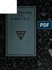 Constitution of the AMORC New York 1917