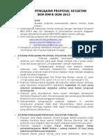 Aturan Proposal Dpp Bem 2013