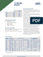 Standard Cr-Ni-Mo Stainless Steels Datasheet