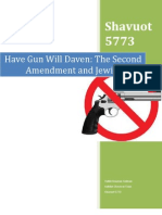 Have Gun Will Daven-The Second Amendment and Jewish Law