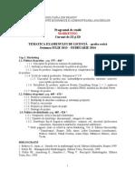 Tematica Examen Licenta MK