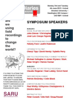 Sound Diaries Symposium 2013  Poster
