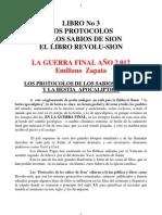 Libro No 03 Los Protocolos de Los Sabios de Sion La Guerra