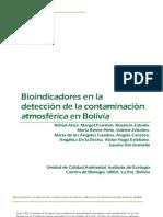 Deteccion de Bioindicadores en Bolivia .Rafael Anze, Margot Franken, Mauricio Zaballa