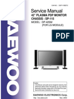 Daewoo DP42SMLV Service Manual