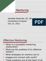 Effective Mentoring 7-13-12
