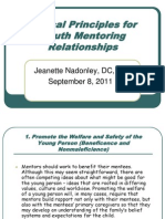 Ethical Principles for Youth Mentoring Relationships 9-8-11