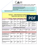 Schedule - Summer-I-2013