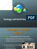 Note 1 Geology and Earth Resources