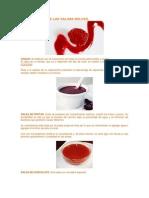 Clasificacion de Las Salsas Dulces