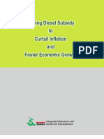 Kirit Parikh Report on the Massive Benefits to the Indian Economy by Total Removal of Diesel Subsidies published in October 2012