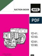 Hatz Diesel INSTRUCTION BOOK