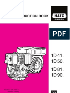 Hatz sel INSTRUCTION BOOK | Engines | Motor Oil Hatz Alternator Wiring Diagram on