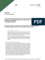 """Antwort der Bundesregierung Oktoberfest-Attentat – Stasi-Notizen und Indizien betreffend einer Beteiligung der """"Wehrsportgruppe Hoffmann"""" sowie Verbindungen zu """"Gladio"""" (23.6.2009)"""