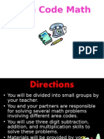 Area Code Math Lesson Plan