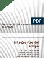 Administración de los insumos en equipos de computo