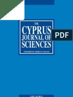 Cyprus Journal of Sciences 10