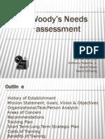 Woody's Restaurant Needs Analysis