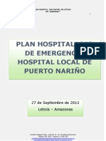 PLAN DE EMERGENCIA HOSPITAL DE PTO NARIÑO ORIGINAL 2012