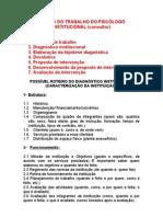 ROTEIRO DO DIAGNÓSTICO INSTITUCIONAL