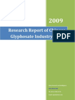 Research Report of Chinese Glyphosate Industry, 2009