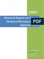 Research Report on Chinese Chemical Pharmaceuticals Industry, 2009