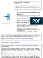 Covadonga Meseguera  & Fabrizio Gilardi What is New in the Study of Policy Difusion 2009
