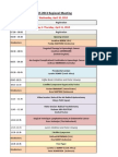 IGCS 2013 Timetable March 4