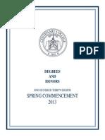 Centenary College graduation list 2013