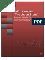 Jeff Johnson Urban Branding Marketing Plan