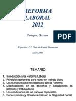Reforma Laboral 2013 Tuxtepec