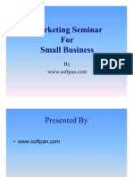Marketing Seminar for Small Business
