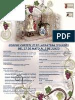 Corpus Lagartera Programa 2013