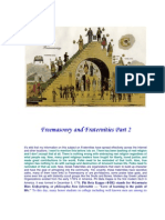 Freemasonry and Fraternities Part 2