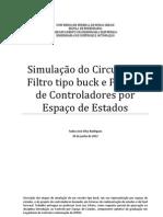 RODRIGUES, T. J. S. - Simulação de Circuito tipo buck e Projeto de Controladores por Espaço de Estados