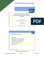 Microprocessors vs. DSPs