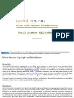 Top 25 Locations R&D Software