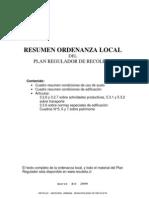 Resumen Ordenanza Local Marzo 2009