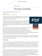 The Demands of Executive Leadership2