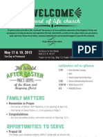 Church Bulletin for May 17 & 19, 2013