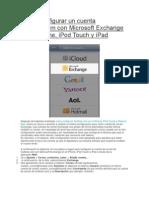 Cómo configurar un cuenta Outlook como exchange