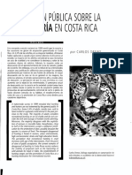 Opinión Sobre Cacería en Costa Rica - Drews 2002