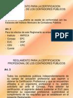 Reglamento Para La Certificacion Profesional de Los Contadores