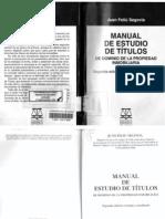 Manual de Estudio de Titulos Juan Feliu Segovia