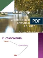 METODOLOGÍA DE LA INVESTIGACIÓN 2012