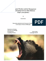 Psychological Warfare in Male Baboons - PhD Contents and Abstracts - Drews 1993