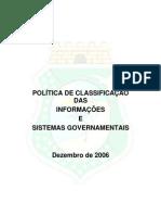 Politica de Classificacao Das Informacoes e Sistemas Governamentais 11-12-2006